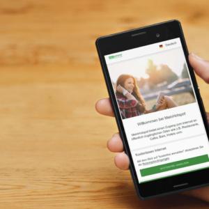 WLAN-Hotspot Login per Smartphone - ein toller Service für Gäste in der Gastronomie und Kunden im Einzelhandel. Dazu werben Sie mit einem Gäste-WLAN clever für ihr Geschäft.
