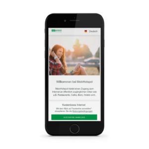 WLAN-Hotspot Login per Smartphone mit MeinHotspot