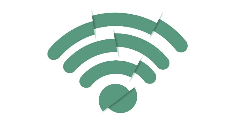 kaputtes WLAN-Symbol symbolisiert WLAN-Fehler